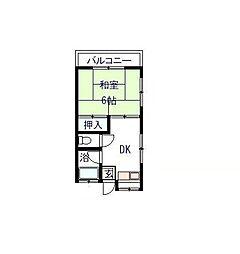千葉県松戸市大金平4丁目の賃貸アパートの間取り
