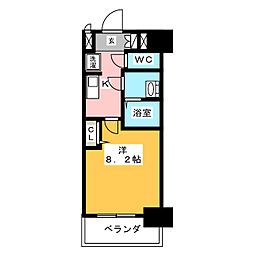 プレサンス上前津プレス[8階]の間取り