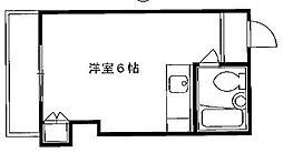 京都府京都市東山区柚之木町の賃貸マンションの間取り