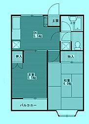 サニープレイス No2[1階]の間取り