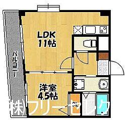 ヴォーヌンク博多駅東[9階]の間取り