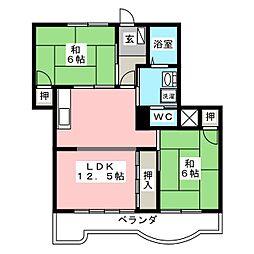 第2観歓ビル[2階]の間取り