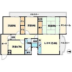 上野坂グリーンII[4階]の間取り