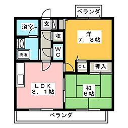 パークスクエア21[4階]の間取り