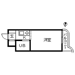 TOP・東寺尾第1[0204号室]の間取り