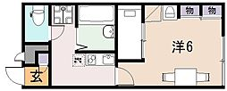 レオパレスYAO[2階]の間取り
