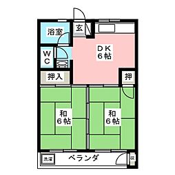 若山ビル[4階]の間取り