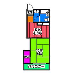 サンコーポ那珂[3階]の間取り