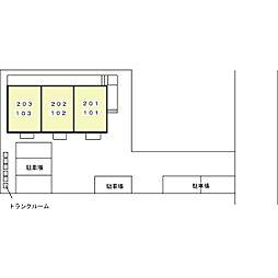ボンヌ・シャンス II[1階]の外観