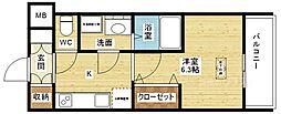 スプランディッド新大阪DUE[8階]の間取り