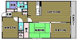 メゾン錦[3階]の間取り