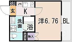 ルナ・ソレイユ近江堂[1階]の間取り