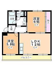 新宿団地 5号棟[207号室]の間取り