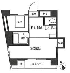 神奈川県横浜市中区石川町3丁目の賃貸マンションの間取り