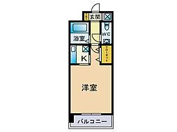 エステートモア天神STUDIO[12階]の間取り