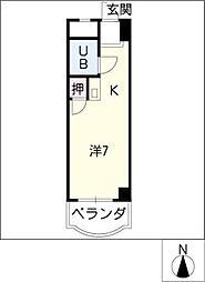 ベルメゾンNARUMI[5階]の間取り