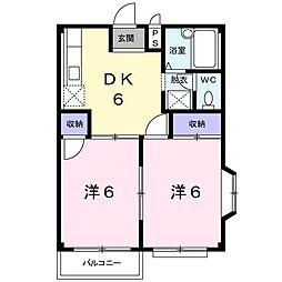 エステート・K[0101号室]の間取り