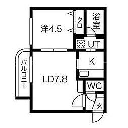 カルぺ・ディエム宮ヶ丘[1階]の間取り