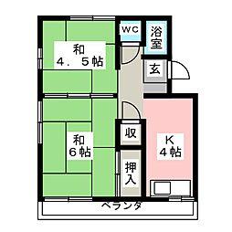 神戸アパート[2階]の間取り