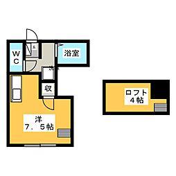 ファイン桜川[2階]の間取り