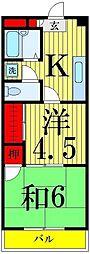 東京都足立区青井5丁目の賃貸マンションの間取り