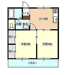 ハイツ青柿B[1階]の間取り