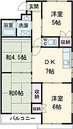 愛知県安城市昭和町の賃貸マンションの間取り