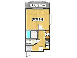 ピュアサクラ松屋町[6階]の間取り