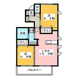 D-room 花畑弐番館[1階]の間取り