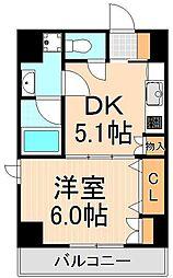 スタイル東上野[7階]の間取り