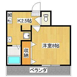 京OHBU[2階]の間取り