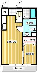 クレールIV[3階]の間取り