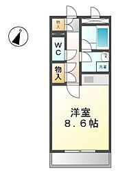 愛知県清須市阿原星の宮の賃貸マンションの間取り