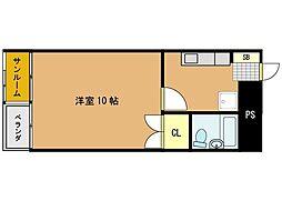 コーポ清水1号館[2階]の間取り