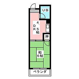 菱田ビル[5階]の間取り