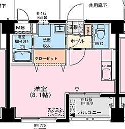 アールM1ビル 3階ワンルームの間取り