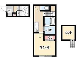 仮)CHIKUSA-SIX 1階1Kの間取り