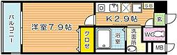 福岡県北九州市小倉北区金鶏町の賃貸マンションの間取り