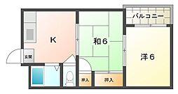 サンシャイン東[2階]の間取り
