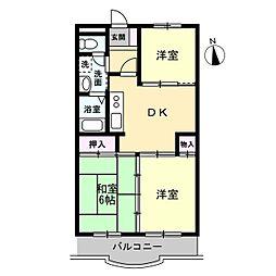 コートサンモール[2階]の間取り