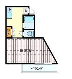 兵庫県神戸市垂水区仲田2丁目の賃貸マンションの間取り