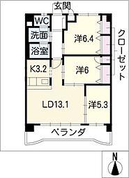 グレースシノキ 7[5階]の間取り