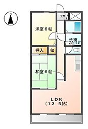 メゾングレース[2階]の間取り