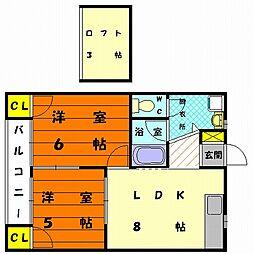 ラフィーネ16[2階]の間取り