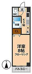 ラブラドール高井戸[4階]の間取り
