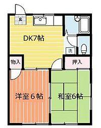 ビラ秀芳III[1階]の間取り