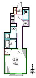東京メトロ丸ノ内線 南阿佐ヶ谷駅 徒歩14分の賃貸アパート 1階1Kの間取り