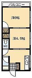 サンマンション[A10号室]の間取り