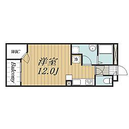 JR成田線 久住駅 徒歩6分の賃貸アパート 1階ワンルームの間取り