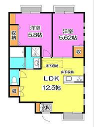 [テラスハウス] 東京都清瀬市中清戸3丁目 の賃貸【/】の間取り